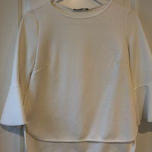 Zara White top size medium